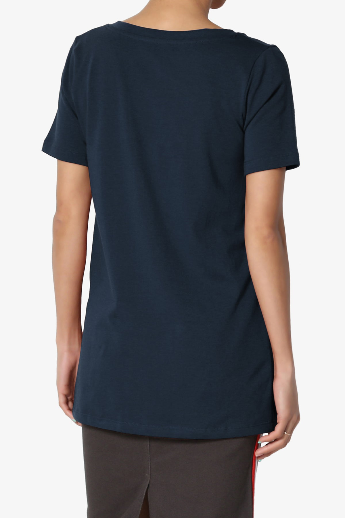 Elora V-Neck Slim Tee ADD COLOR