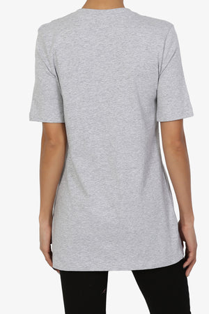 Elora V-Neck Relaxed Fit Tee ADD COLOR - TheMogan