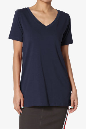 Elora V-Neck Missy Tee ADD COLOR