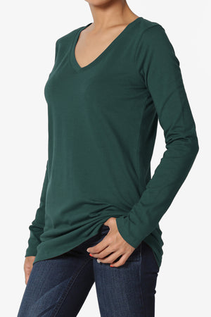 Lasso Cotton V-Neck Top