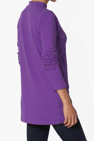 Lasso Cotton Mock Neck Top More Colors - TheMogan