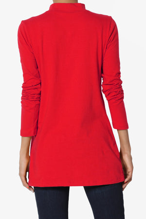 Lasso Cotton Mock Neck Top ADD COLOR