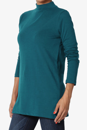 Lasso Cotton Mock Neck Top ADD COLOR - TheMogan
