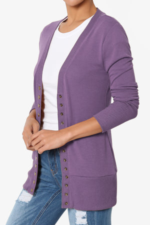Braeden Snap Button V-Neck Cardigan More Colors - TheMogan
