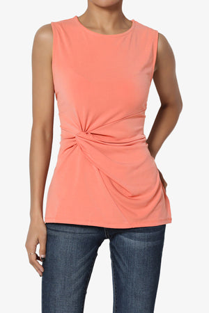 Qutie Twist Knot Tank Top PLUS