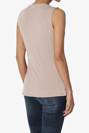 Qutie Twist Knot Tank Top PLUS - TheMogan