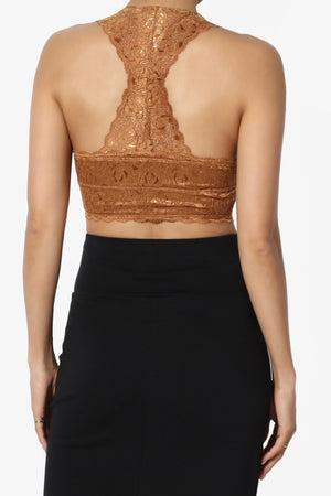 Baja Padded Lace Crop Tank Top PLUS - TheMogan