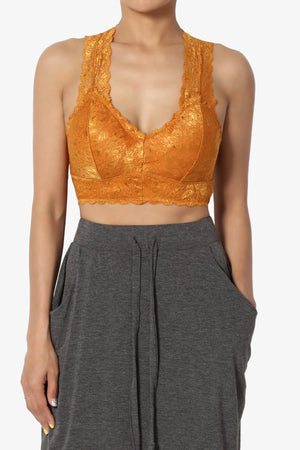 Baja Padded Lace Crop Tank Top