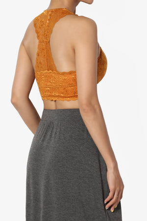 Baja Padded Lace Crop Tank Top - TheMogan