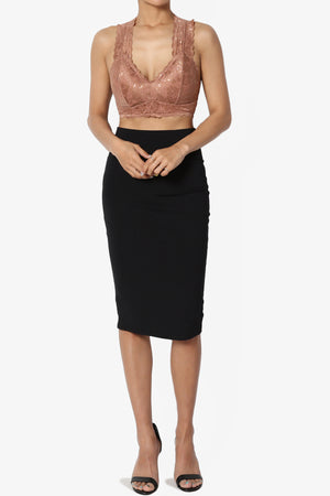 Baja Padded Lace Crop Tank Top PLUS