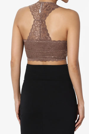 Baja Padded Lace Crop Tank Top More Colors - TheMogan