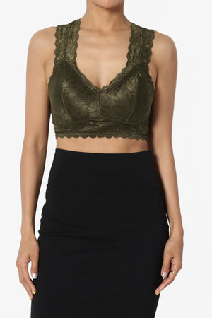 Baja Padded Lace Crop Tank Top ADD COLOR