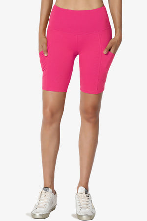 Catia Microfiber Pocket Biker Short Leggings