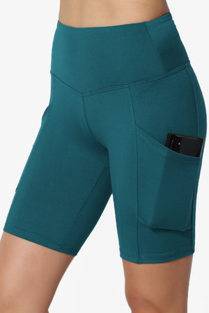 Catia Microfiber Pocket Biker Short Leggings PLUS