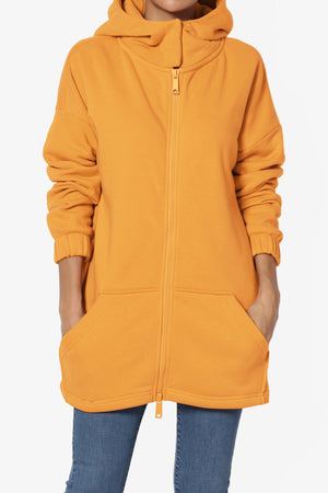 Chrissy Funnel Neck Hoodie Jacket - TheMogan