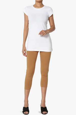 Thalia Cotton Jersey Capri Leggings - TheMogan