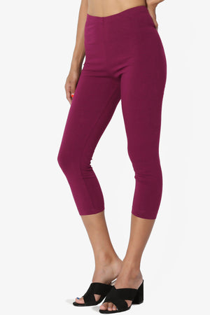 Thalia Cotton Jersey Capri Leggings More Colors - TheMogan