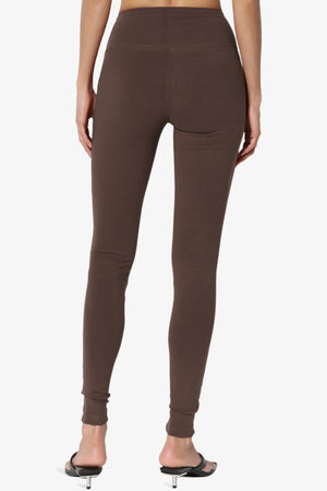 Ansley Cotton Wide Waistband Ankle Leggings