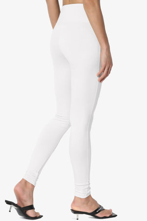 Ansley Cotton Wide Waistband Ankle Leggings - TheMogan
