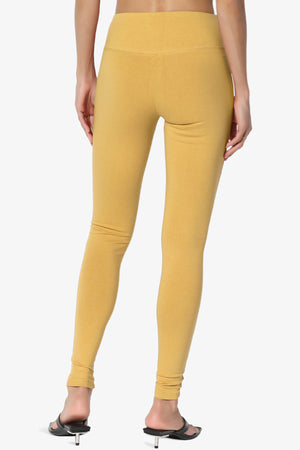 Ansley Cotton Wide Waistband Ankle Leggings PLUS