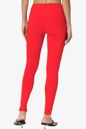 Ansley Cotton Wide Waistband Ankle Leggings ADD COLOR