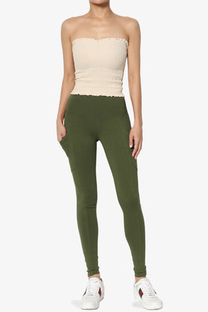 Ansley Luxe Cotton Leggings with Pockets ADD COLOR