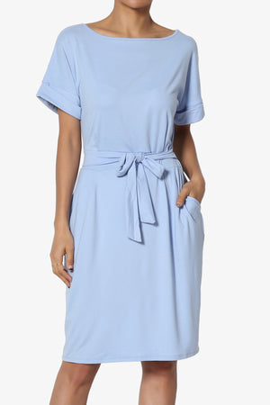 Pennie Tie Waist Shift Dress - TheMogan
