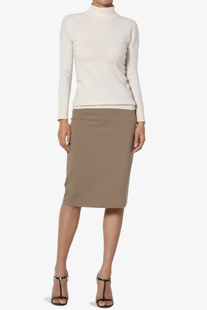 Gisele Ponte Basic Knee Skirt PLUS - TheMogan