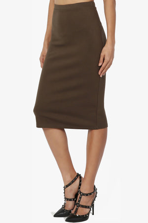 Gisele Ponte Basic Knee Skirt - TheMogan