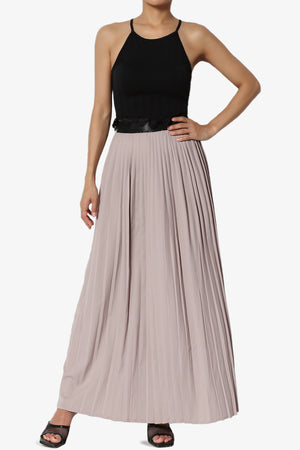 Barria Pleated Maxi Skirt