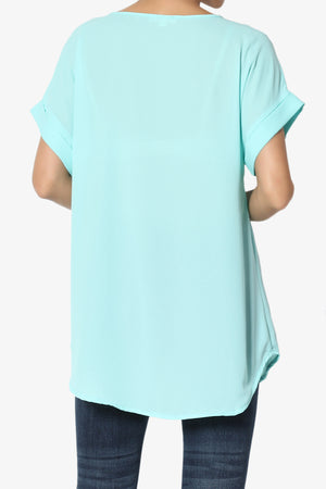 Juliette Boat Neck Chiffon Top PLUS