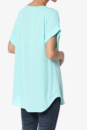 Juliette Boat Neck Chiffon Top