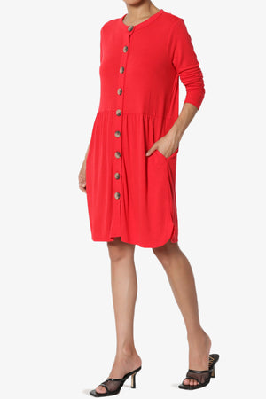 Karly Button Front Dress Cardigan