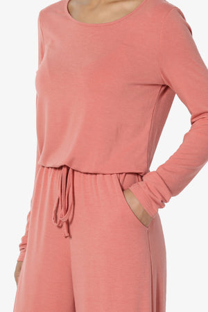Xaren Long Sleeve Lounge Jumpsuit - TheMogan