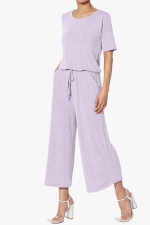 Tina Short Sleeve Culotte Jumpsuit PLUS