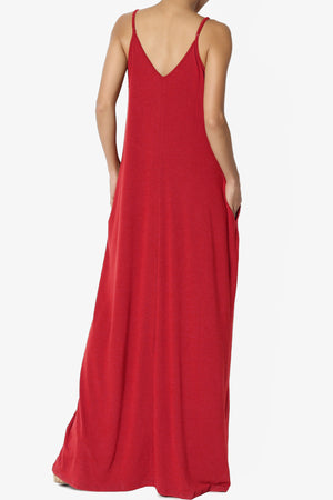 Venus Pocket Cami Maxi Dress PLUS - TheMogan