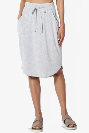 Eclipse Drawstring Midi Skirt
