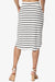 Eclipse Stripe Drawstring Midi Skirt