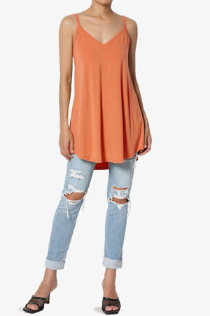 Chelsea Scoop & V Neck Flared Camisole Top PLUS