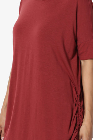 Selenna Jersey Ruched Top - TheMogan