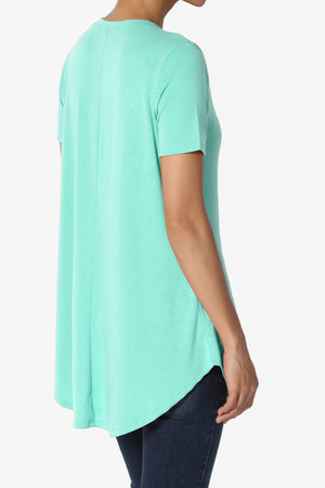 Tristan Shirttail Hem Jersey Top ADD COLOR