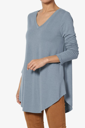 Ramada Long Sleeve Flowy Jersey Top - TheMogan