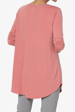 Ramada Long Sleeve Flowy Jersey Top PLUS - TheMogan