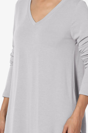 Ramada Long Sleeve Flowy Jersey Top PLUS More Colors - TheMogan