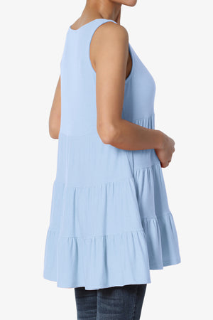 Maiika Sleeveless Tiered Ruffle Top - TheMogan