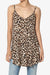 Chelsea Leopard Scoop & V Neck Camisole Top
