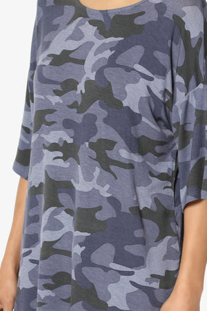 Fritzie Camo Print Jersey Top