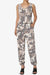 Lavanya Camo Button Scoop Neck Tank Jogger Jumpsuit
