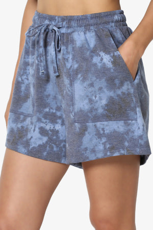 Bettyy Tie Dye French Terry Top & Shorts Set