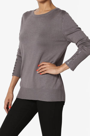 Zohar Button Sleeve Knit Pullover